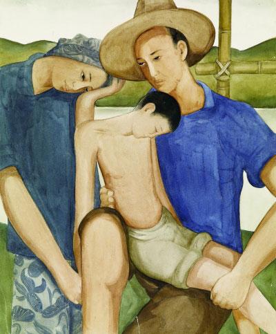 地之子(纸本水彩)  45×37.2厘米  1934年  庞薰琹  庞薰琹美术馆藏