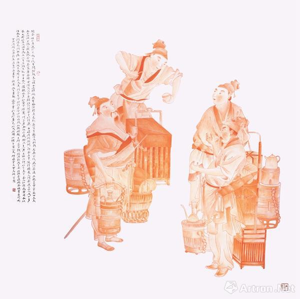 以传播优秀传统文化为主题的书画作品展览在济南拉开帷幕