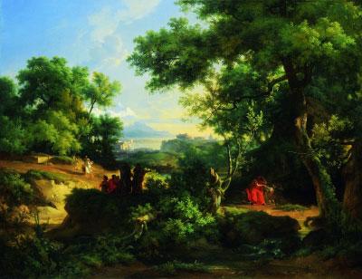 德谟克里特与阿布德人(油画) 1987年罗马历史风景画大奖 阿吉利-埃特纳·米凯龙 巴黎国立高等美术学院藏