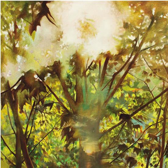 陈潇寒(杭州美术职业学校) 向阳而生 100×100cm 油画