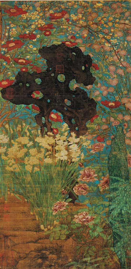 北宋 赵昌 岁朝图 绢本 103.8×51.2cm 台北故宫博物院