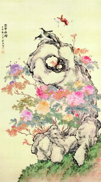 富贵白头图(国画)132.6×75厘米 1887年 居廉 北京故宫博物院藏