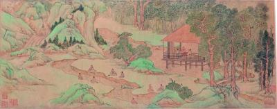 兰亭修禊图(国画) 27×146厘米 明 文徵明