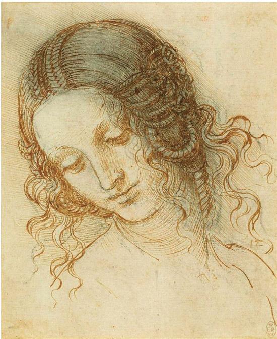 达・芬奇 勒达的头部 约1505-1508年