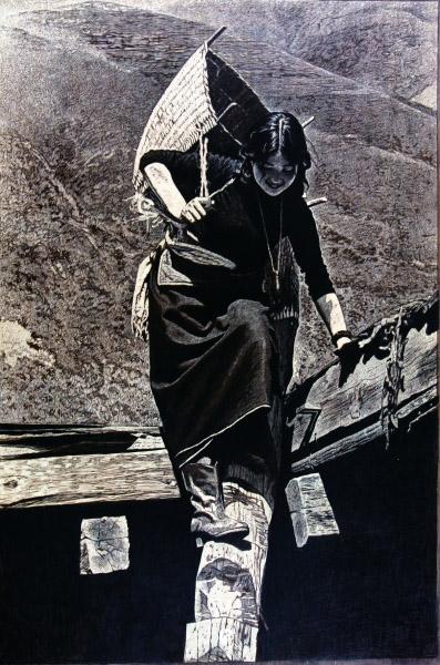 山寨依然美丽(版画) 150×100厘米 2009年 徐匡