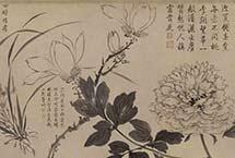 张伯驹收藏的明周之冕《百花图》卷欣赏 该图勾画了四季花卉,其中木本花卉多为折枝。画家以写意的手法勾写或涂抹出花叶、枝干,随意之中透露着明快和清雅,反映出文人画家淡泊不羁的胸臆。【详细】