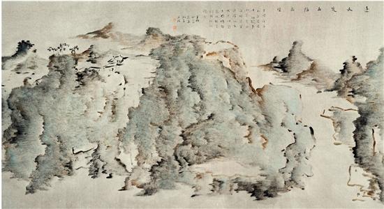 杨福音 远水近山情万种 国画