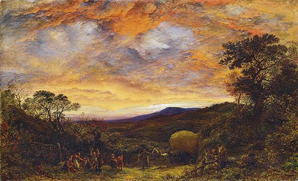 《日落收割归来》约翰·林内尔(1792-1882)(图片来源:上海博物馆)
