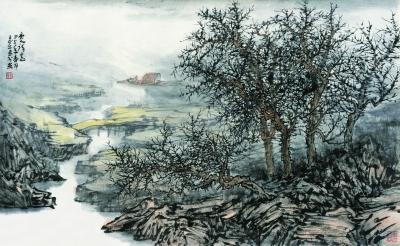 唐人诗意(国画) 66×97厘米 2014年 王正平