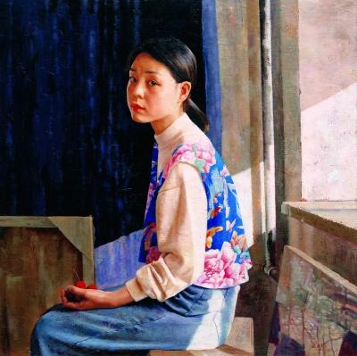 红果(油画) 100×100厘米 1997年 王力克