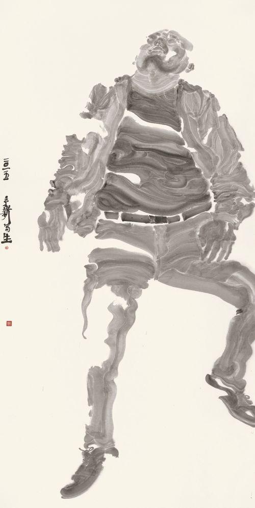 周京新 人物写生 2015 年
