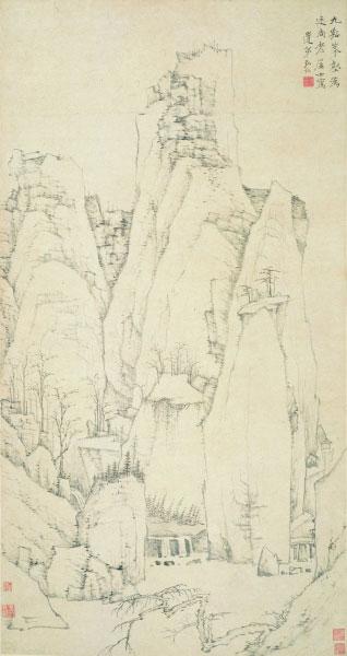 九谿峰壑图轴(国画) 清 弘仁 上海博物馆藏