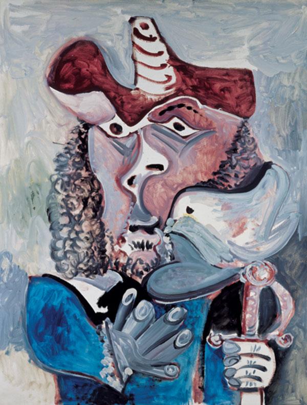 《带鸟的步兵》巴勃罗·毕加索 1971年