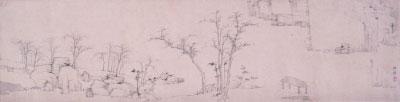 山水三段卷之一(国画) 清 弘仁 上海博物馆藏