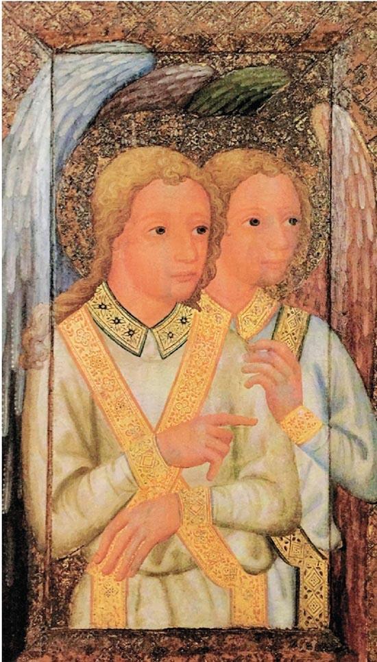 迪奥多里克 两个天使 木板彩画