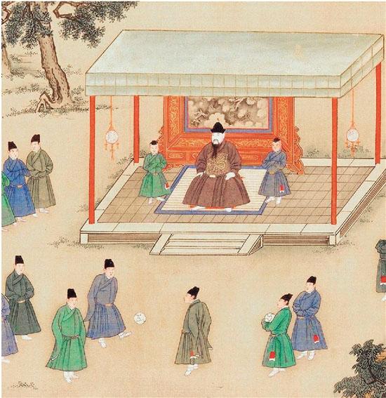 """其实,古代的中国人很早便玩上了""""蹴鞠""""游戏,虽然不一定有现代足球的规"""