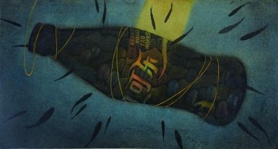 可乐(国画) 73×134厘米 2016年 黄红涛