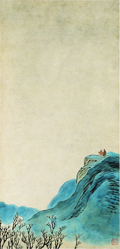 齐白石《放风筝》 中央美术学院美术馆藏