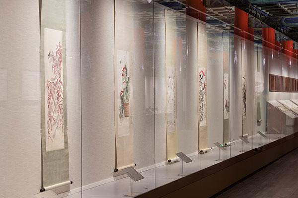 """故宫博物院《""""清平福来――齐白石艺术特展""""》展览现场"""