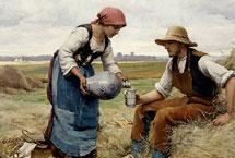 裘利恩·杜普荷油画作品裘利恩·杜普荷的作品以描绘法国乡间农事景象为多,画里有明亮的色彩,流露出优雅气质。杜普荷喜爱将人物摆置于前景,他们或许正在辛勤劳动,或在田野休憩,人物散发出优雅的气质,往往触动观赏者的心灵深处。【详细】