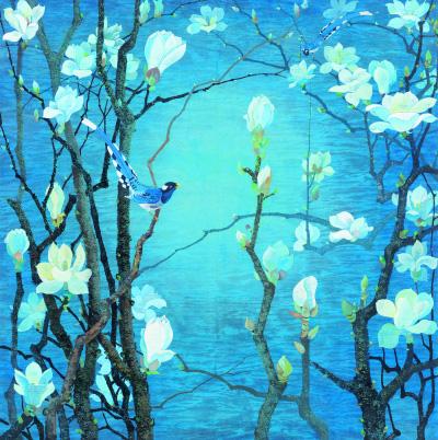 玉兰花开(国画) 104×103厘米 1981年 袁运甫