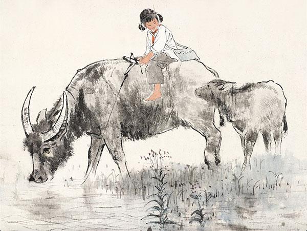 金志远《牧牛》
