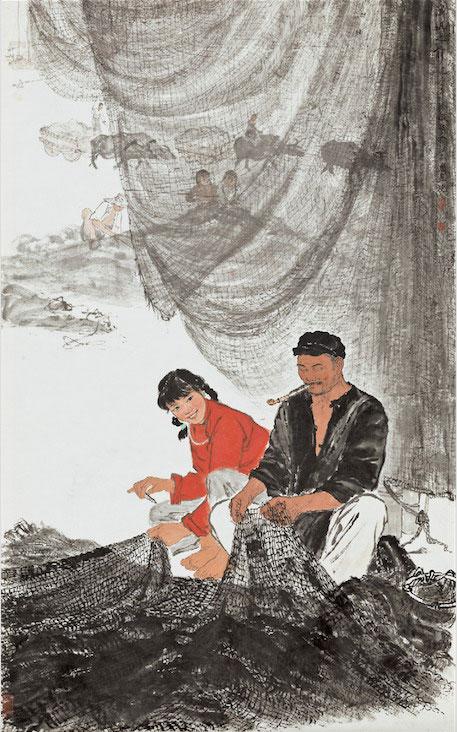 徐孅《渔汛之前》中国美术馆藏