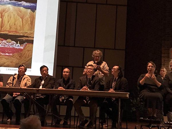 Crossman Gallery克洛斯曼美术馆举办五位中国艺术家学术论坛、及开幕式