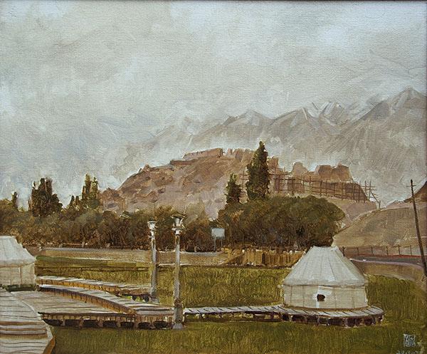 古棕Ancient City in Tashkurgan 塔县古城 20 in.×24 in. oil on linen