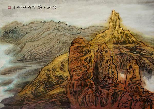 黎加多Song for the Lonesome Mountain 孤山之歌  50cm × 70cm 2018