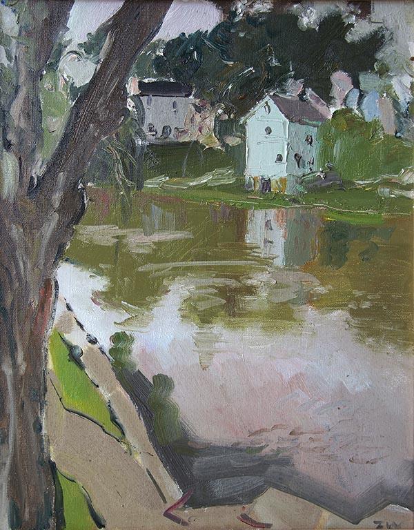 甄巍 Plein Air Painting 风景写生 , 40cm×50cm, oil on canvas, Fort Atkinson