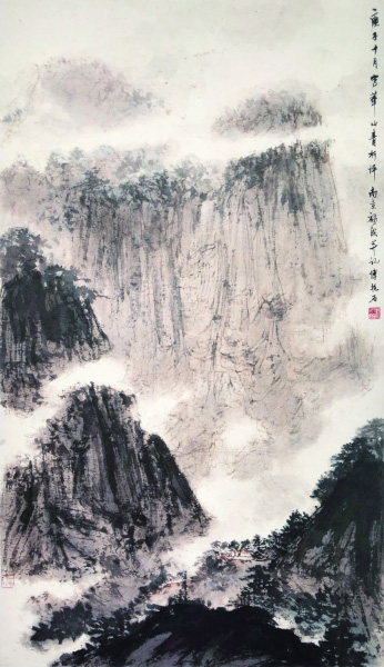 山水(国画) 105×61厘米 1960年 傅抱石 中央美术学院美术馆藏