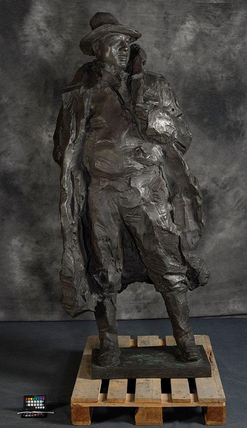 吴为山《孔繁森》铸铜 中国美术馆藏