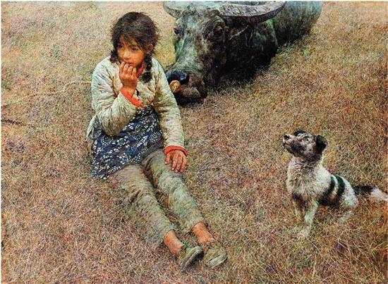 何多苓 春风已经苏醒 96×130cm 布面油彩 1981年 中国美术馆藏