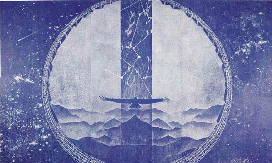 李康 平塘大射电望远镜 180×300cm 版画