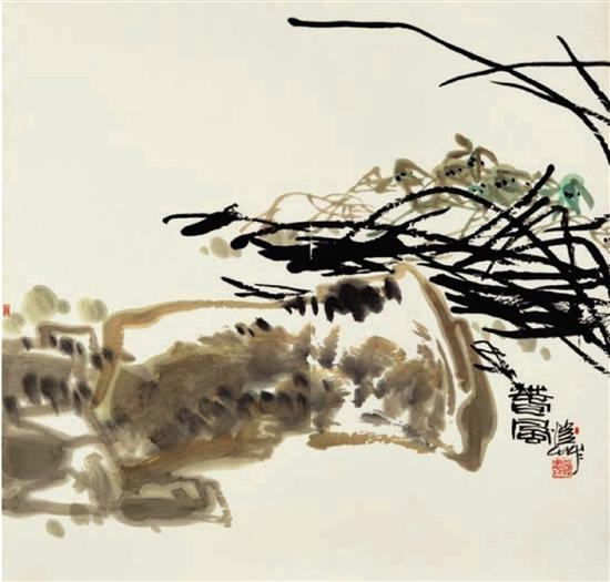 潘公凯 春风 纸本 136×136cm 2006年