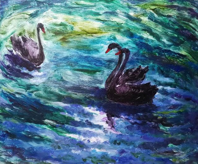 《鹅 教子》2009年作品