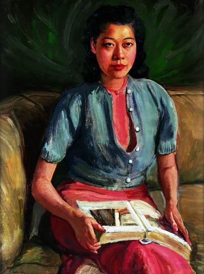 刘素微肖像(油画) 1942年 李铁夫 广东美术馆藏