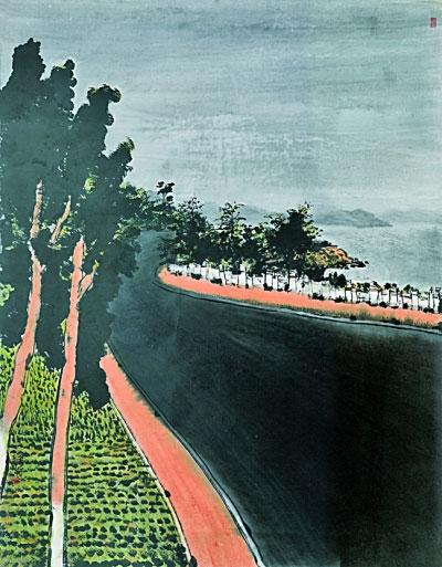 中国城市·道(中国画) 李东伟