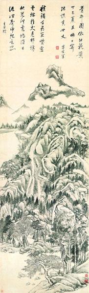 青卞图轴(中国画)董其昌
