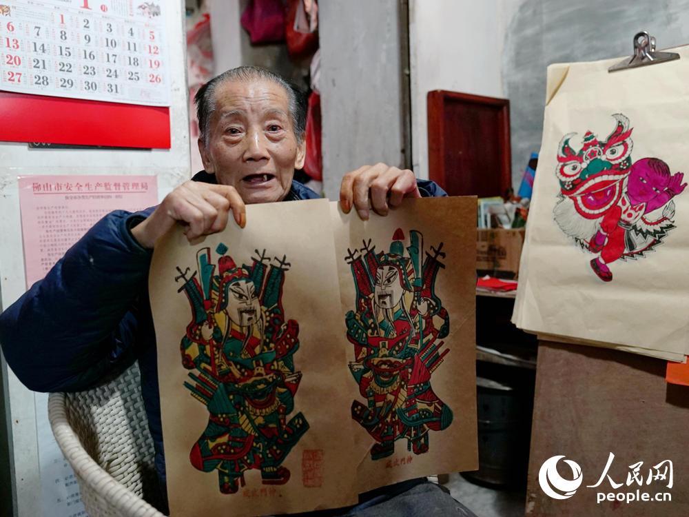 【1】冯炳棠,国家级非物质文化遗产代表性传承人,皇甫万里摄