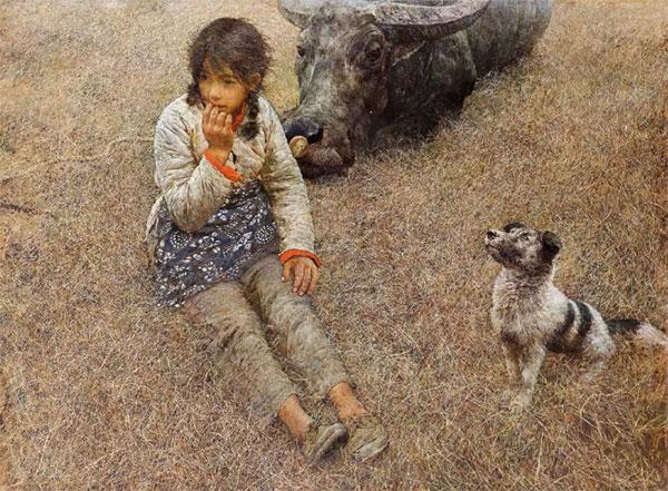 何多苓 《春风已经苏醒》 布面油画  96x130cm  1981