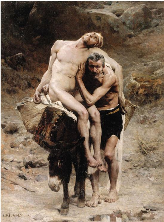 艾米·尼古拉斯·莫洛 好撒玛利亚人 布面油画 1880年 268×198cm 藏于巴黎小皇宫