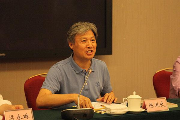 6月17日至20日,2019中国书协新闻宣传工作首期培训班在北京举办。图为中国书协分党组书记、驻会副主席陈洪武作开班动员讲话。