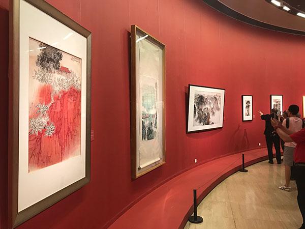 钱松喦诞辰120周年纪念展亮相中国美术馆