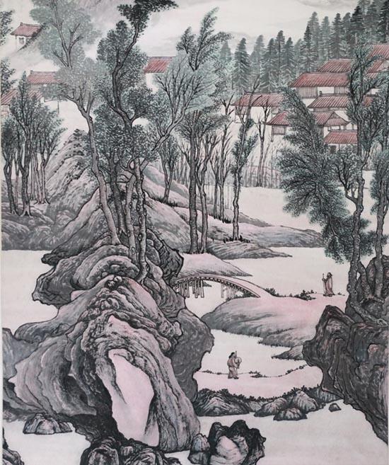 向石墨韵书画展在京开幕