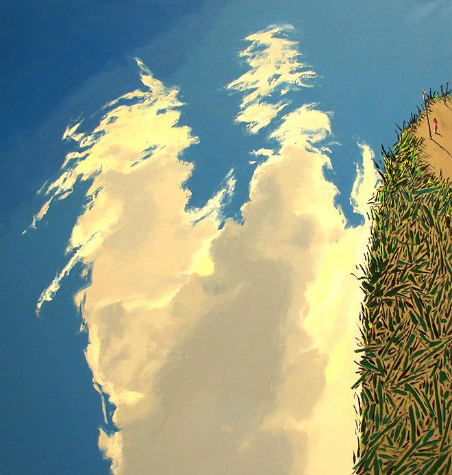 云上的日子 尺寸200x190cm 2008年