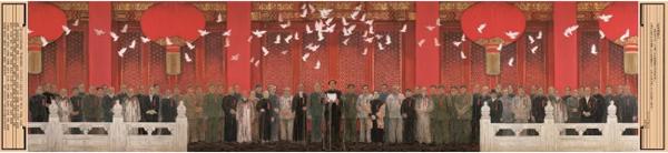 """""""为中国画""""——唐勇力的中国画作品《新中国诞生》"""