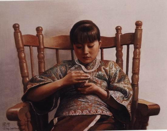 姜国芳油画作品选 - 香儿 - xianger