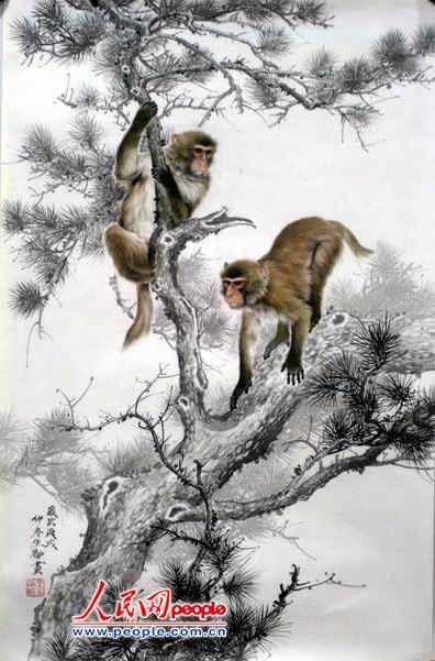 """工笔画亦称""""细笔画"""".属中国画技法类别,与""""写意画""""对称."""